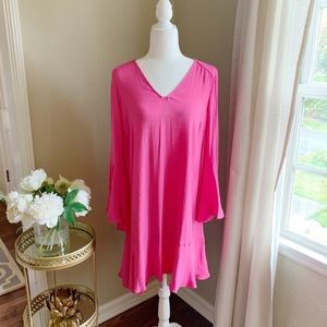 NWT HD in Paris Pink Carissa Bell Sleeve Dress 6